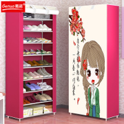Simple shoe rack multilayer assembly of household dust in students' dormitory dormitory shoes shelf storage cabinet shoe type economy