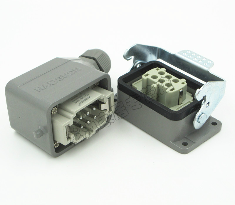 HAOGNCN HDC-HE-006-1 Heavy-duty Connector 6-core 16A Rectangular Connector Hot Runner Plug