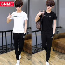 Junior high school students summer youth short sleeved t-shirt men's suits, a men's clothing movement trend of summer trousers