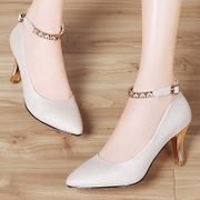2017 new spring shoes with stilettos are pointed shoes ladies shoes all-match shoes tide