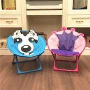 Children's cartoon Moon chair stool baby chair folding chair portable outdoor beach chair chair kindergarten