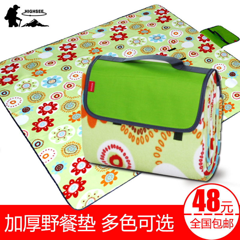 Picnic mattress moistureproof mattress outdoor articles picnic mattress waterproof and thicker lawn mattress travel picnic cloth