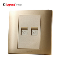TCL Rogran Switch and Socket Authentic 86 Type Official Series Gold-diffused Socket Panel Two-digit Telephone Dual Information