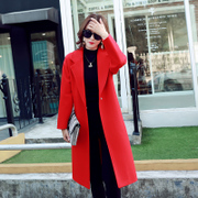 Wool tweed coat female 2017 new spring in the long section of the spring and autumn woolen coat coat female tide South Korean Students