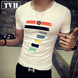 Korean version of the printed men's T-shirt summer thin section Slim short-sleeved teasing teens students underwear shirt half-sleeved shirt