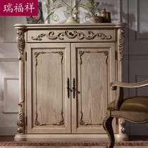 Rui Fu Xiang European Solid Wood Shoe Cabinet Porch Ark Two Door Cabinets  Cabinet Cut