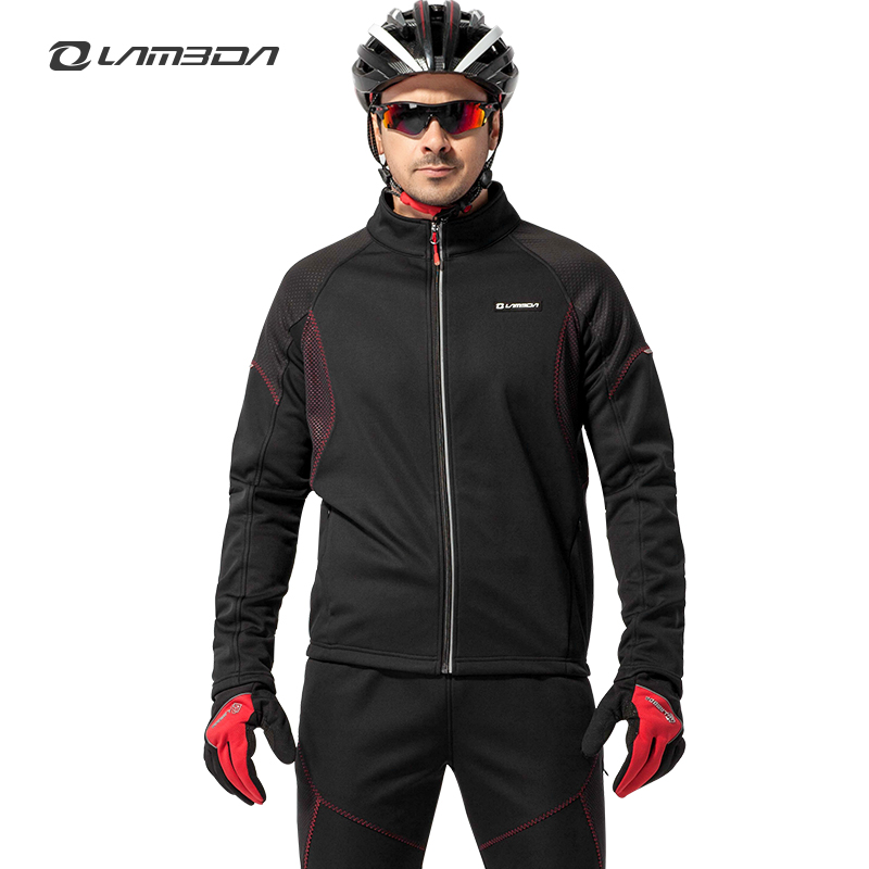 Lampada Bicycle Spring, Autumn and Winter Cycling Clothes Long Sleeve Pants, Wind-proof and Warm Suit Mountain Bike Male