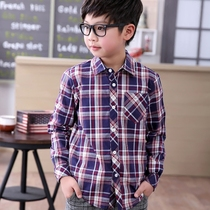 Kids boys long sleeve shirt in 2017 years new cotton Plaid Shirt boys spring jacket for children surge