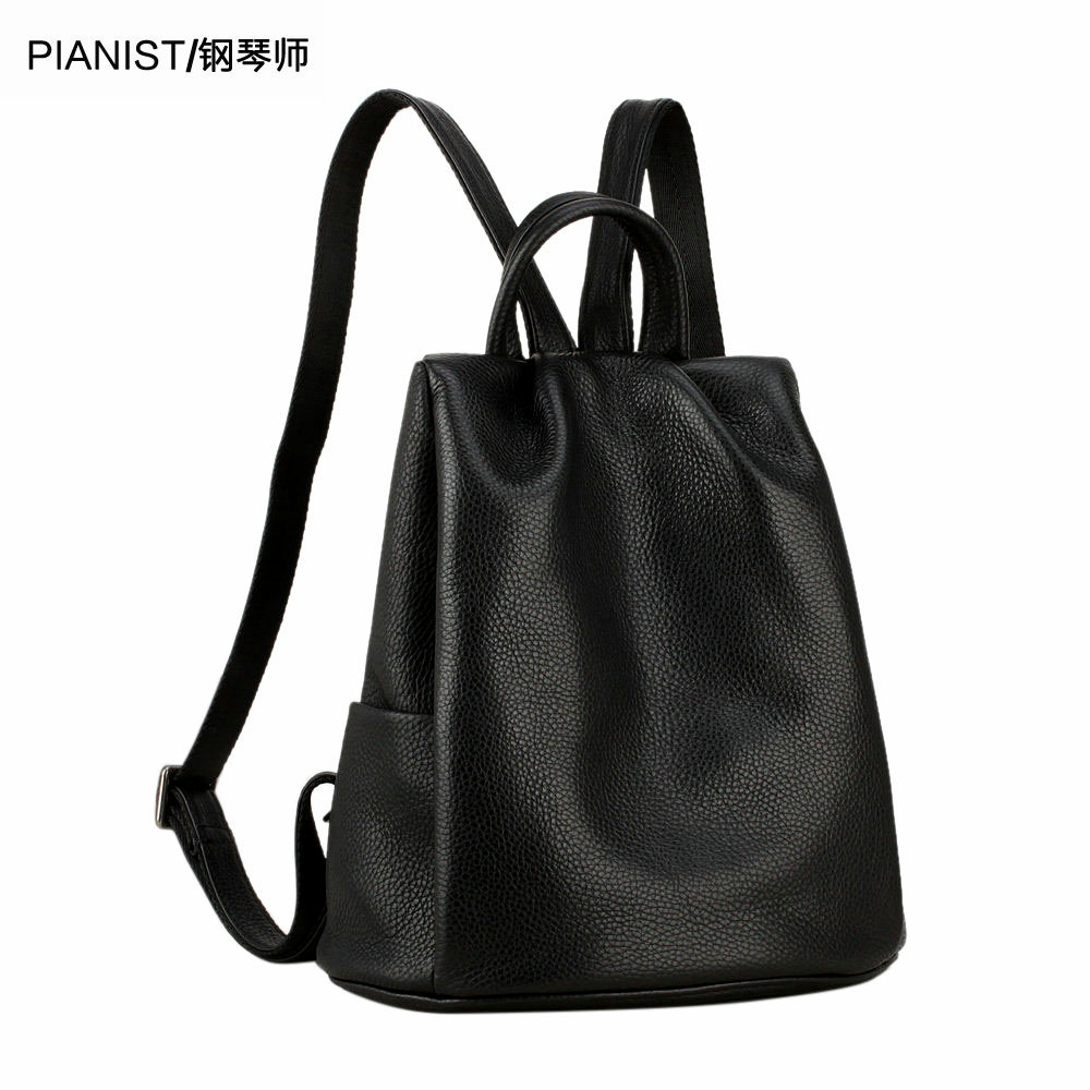 Genuine leather shoulder bag women's bag 2019 new Korean version leisure Ladies Bag Fashion first-layer cowhide burglar-proof small backpack