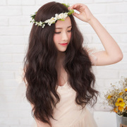 Female wig long curly hair in the egg roll natural corn hot fluffy wig