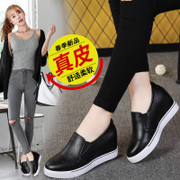 2017 spring new leather shoes, shoes, single shoes, shoes, shoes, women's shoes
