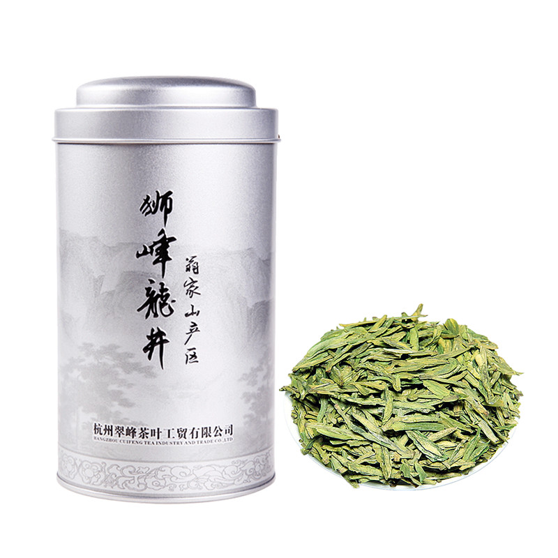 2018 New Tea Lion Peak Longjing Mingqian Special Grade 3A Spring Tea West Lake Longjing 100g Canned Wengjiashan Production Area