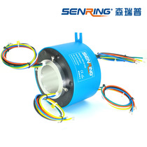 Through hole slip ring Rotating brush collector ring Conductive slip ring Bus ring 6~24 way aperture 80mm Industrial grade
