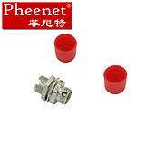 Pheenet Fenite FC Small D Type Single Multimode Fiber Optic Flange Coupled Adapter Connector Carrier Grade
