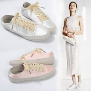 White shoes spring 2017 new small silk shoes Spain low all-match flat shoes dirty shoes.