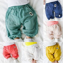 In summer 2017 new Korean baby cotton solid color for boys casual close big pp pants leggings
