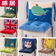 Cartoon cushion back office chair conjoined one seat chair stool butt pad thickening students