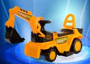 New children electric excavators, toy cars, excavators, you can take people, big baby, four wheel project car mail