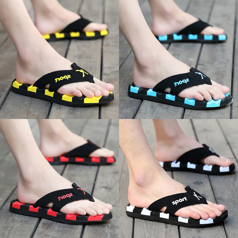 Summer flip flop personality outdoor beach trend Korean version antiskid 2020 new style sandals for men