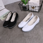 A nurse shoes with white hair and beauty white shoes shoes merchandiser Po shoes shoes black shoes female beauty salon