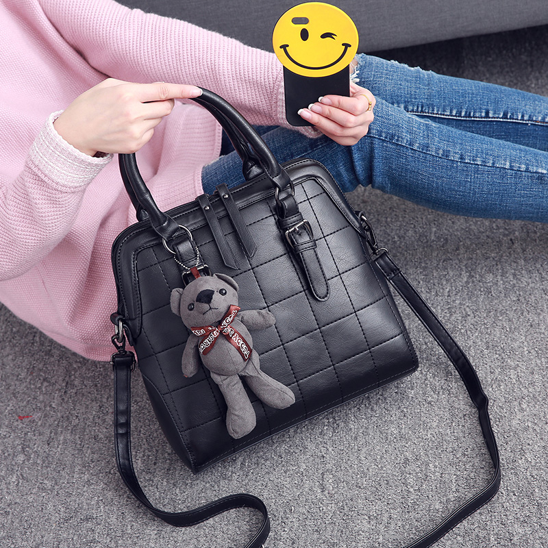 Women's Bag New Fashion Simple Shell Bag Retro Handbag in Autumn and Winter of 2019