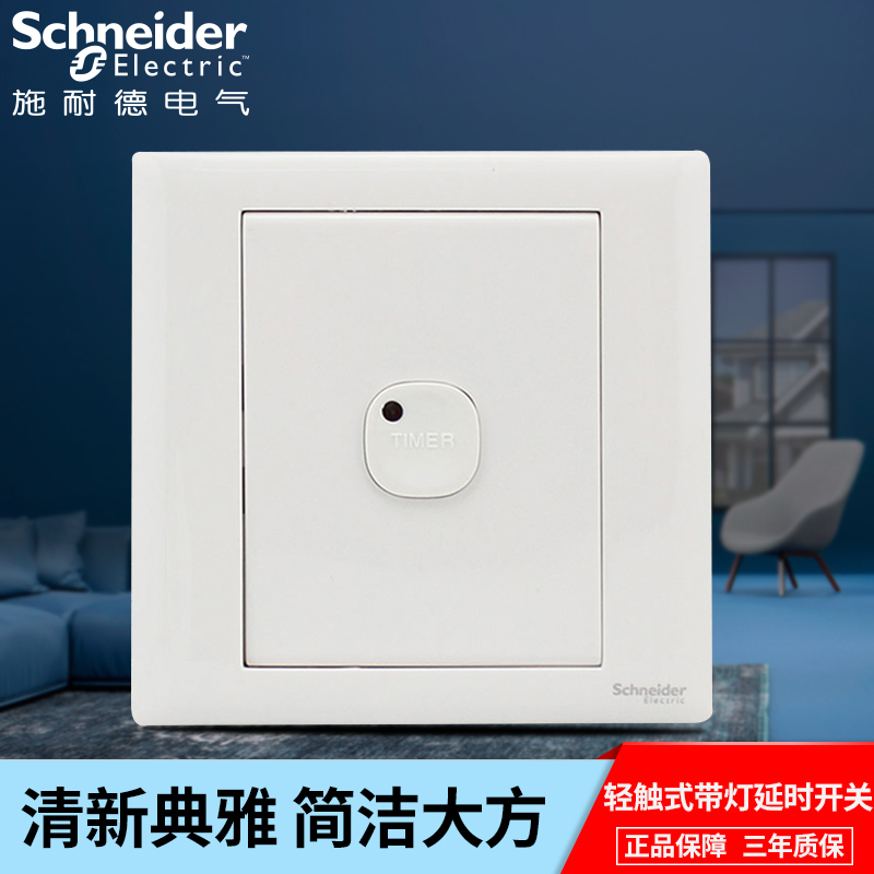 Schneider delay switch C86 series switch socket touch lamp wall panel home touch switch