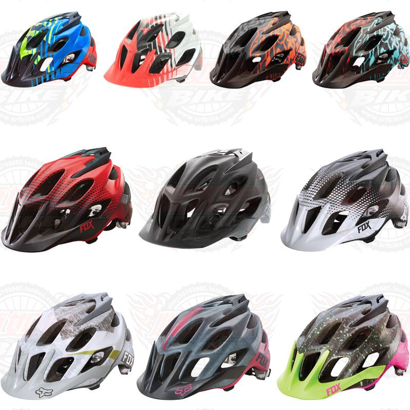 Quality FOX FLUX XC AM Mountain Helmets Forest Road All Terrain Helmets Half Helmets Colorful