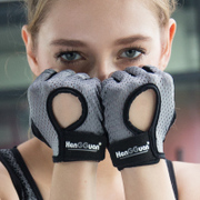 Summer fitness gloves, men's breathable women's sports gloves, anti-skid wristbands, dumbbells, equipment training, semi finger thin, wear-resistant