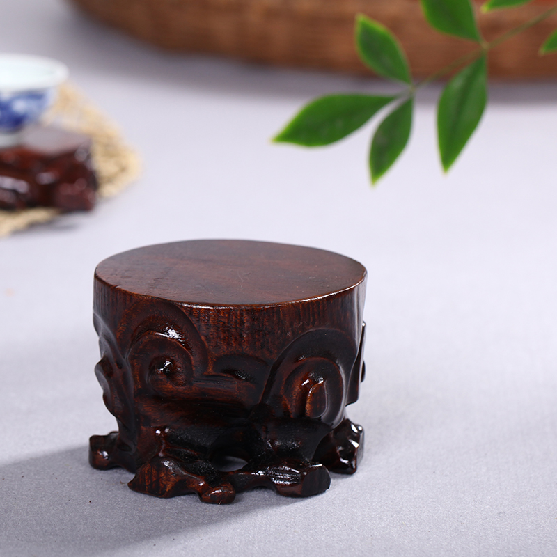 Haolinxuan Wood Art Root Carving Circular Root Base Teaware Base Vase Base Base