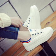 White shoe shoes new Korean 2017 all-match students increased thick bottom plate spring tide summer leisure shoes