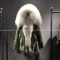 16 from the stars of your coat with the same paragraph Qianzai Iraq Parker coat fox fur liner imitation fur coat grass