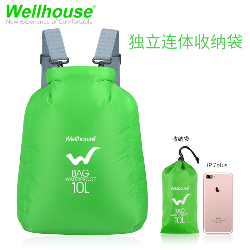 [The goods stop production and no stock]Waterproof bag outdoor shoulder waterproof bag backpack diving travel drifting mobile phone storage beach swimming snorkeling seal