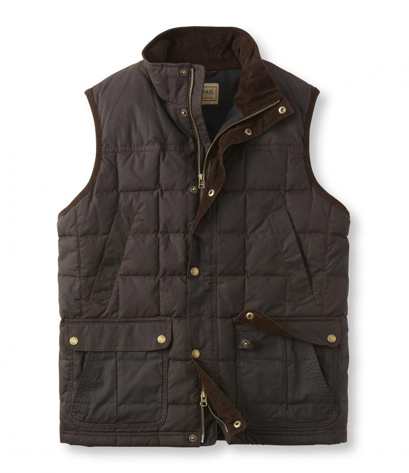 American direct mail L.L.Bean genuine TA296114 outdoor sports waterproof, waterproof and warm down vest man