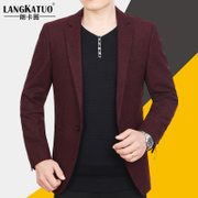 New winter men's Slim small suit middle-aged male Korean youth leisure suit jacket mens jacket