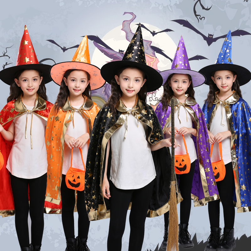 Cosplay Clothes,Halloween Clothes,Halloween Children's Clothing cos girl witch cloak witch cloak boy cosplay clothes role playing