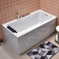 Acrylic small apartment home bathroom Surf massage thermostatic bath Japanese-style independent bathtub 1 2m-1 8m