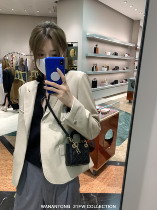 WANANTONG city fashionable fine leather suit jacket women spring and autumn 2021 leather new casual leather clothing