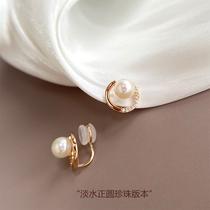 Silicone painless ear clip no pierced female advanced sense earrings pearl earrings earrings 2021 new french ear clip models