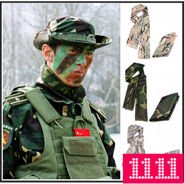 Saver Outdoor Camouflage Mesh Scarf Camouflage Scarf Camouflage Scarf Military Fan Scarf Riding Hood