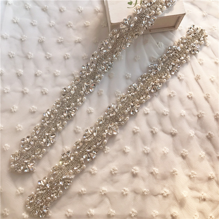 Luxurious customized sparkling drill rod for bride's hairband, wedding dress, waistband accessories, dance dress accessories