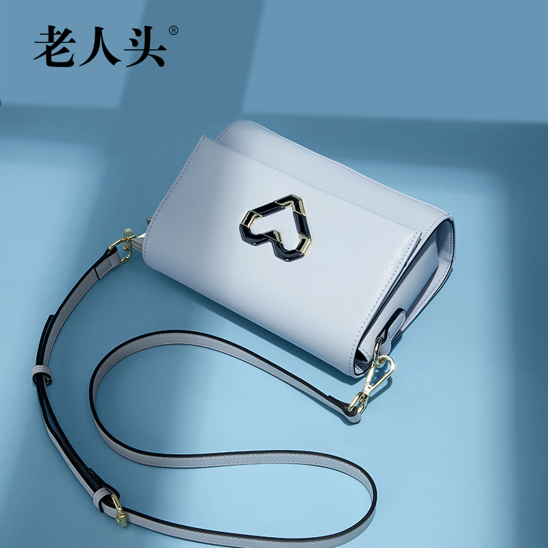 Old man head bag female 2017 new tide shoulder bag Korean version of the female bag casual Messenger bag simple tofu bag small bag