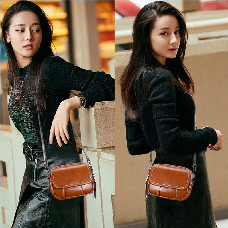 Factory tailings special clearance inventory leather ladies bag Korean version autumn and winter fashion retro simple one-shoulder bag oblique Bag