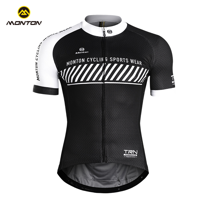 Monton cycling, Monton Qianxiang summer cycling short-sleeved shirt breathable moisture wicking quick-drying bicycle suit