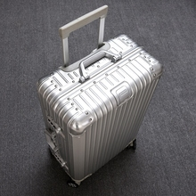 All metal aluminum magnesium alloy pull rod box universal wheel 22 inch female full aluminum suitcase 242629 inch suitcase