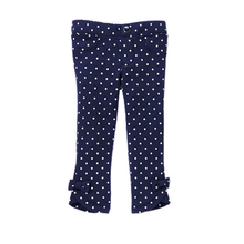 Three pieces 50% off stock buy bow Jeggings wave point bow elastic pants