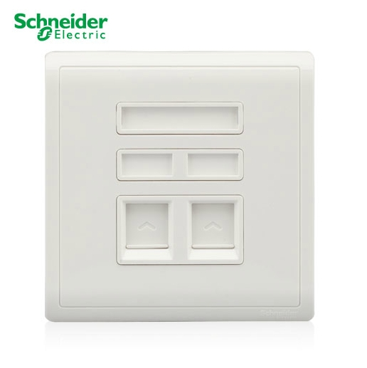 Schneider Switch Socket Flush Series Switch Socket Ivory White Dual Telephone Socket