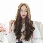 Long hair wig wigs, sub bangs Korean wave wig hair wig in realistic points