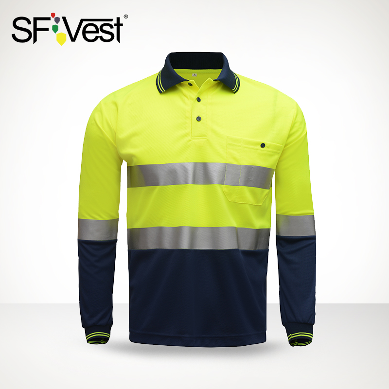 SFVest reflective T-shirt long sleeve road work men and women managers reflective clothing traffic safety clothing sympathy