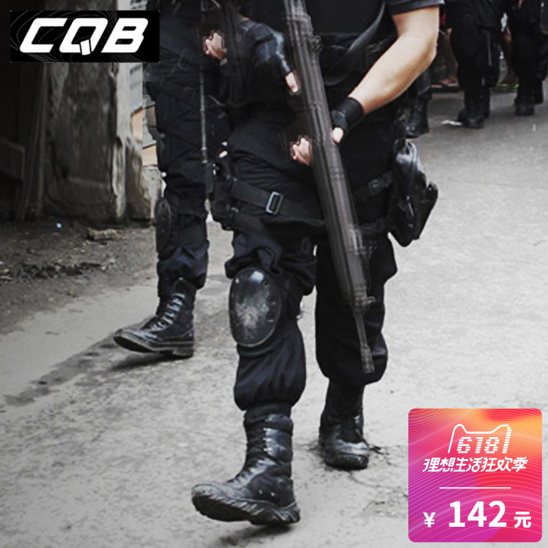 CQB army fan black camouflage tactical pants men spring and summer training pants CS outdoor wearable commuting overalls