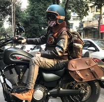 Black bean Hedon helmet vespa motorcycle carbon fiber retro Harley Indian locomotive half helmet latte triumph